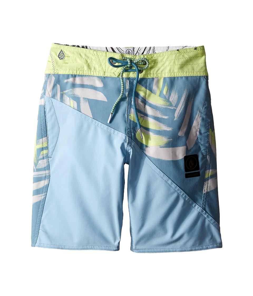 Volcom Kids Liberation Slinger Boardshorts Big Kids Tidal Blue Boys Swimwear