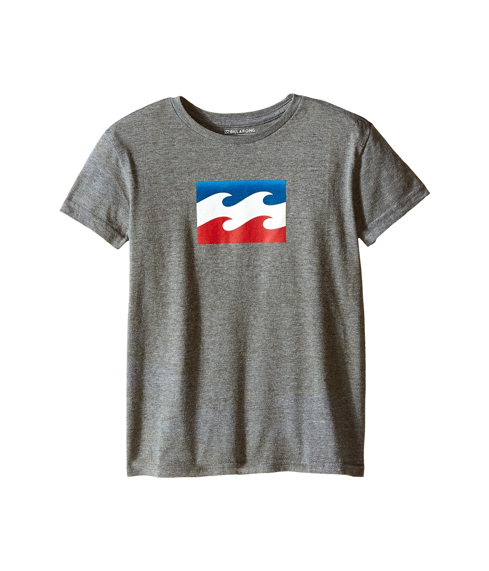 Billabong Kids - Team Wave T-Shirt (Toddler/Little Kids) (Dark Grey Heather) Boy