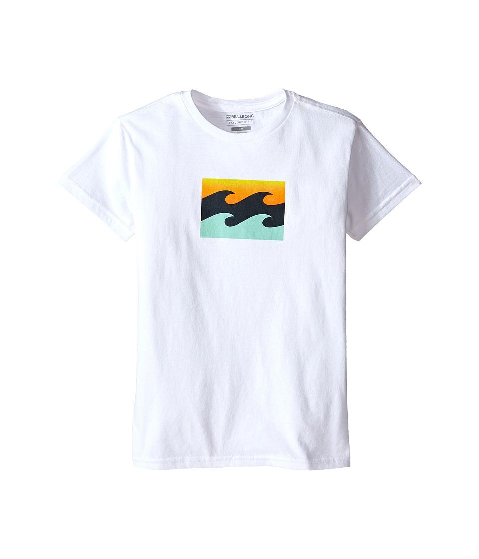 Billabong Kids - Team Wave T-Shirt (Toddler/Little Kids) (White) Boy
