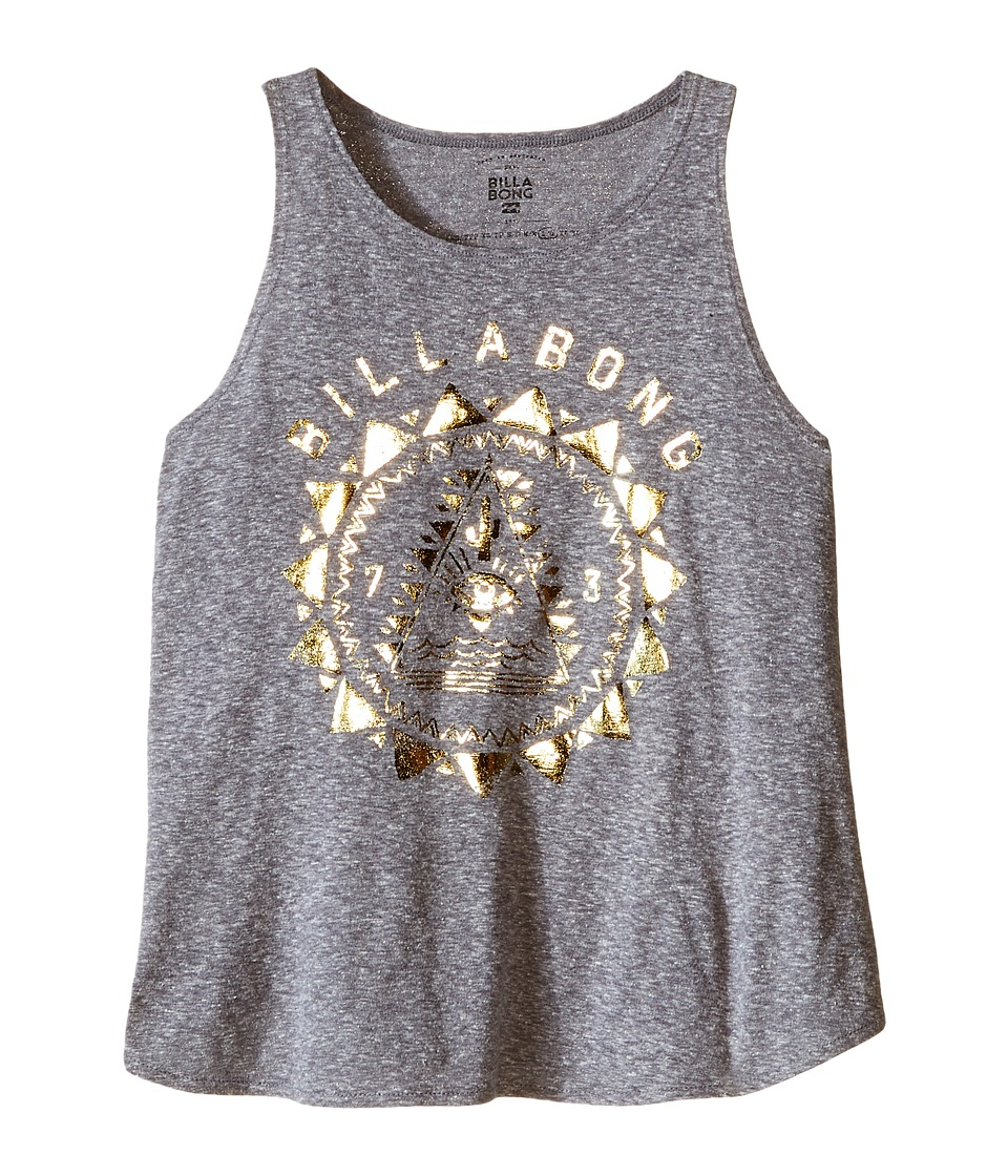 Billabong Kids Desert Mystic Tank Top Little Kids/Big Kids Dark Athletic Grey Girls Sleeveless