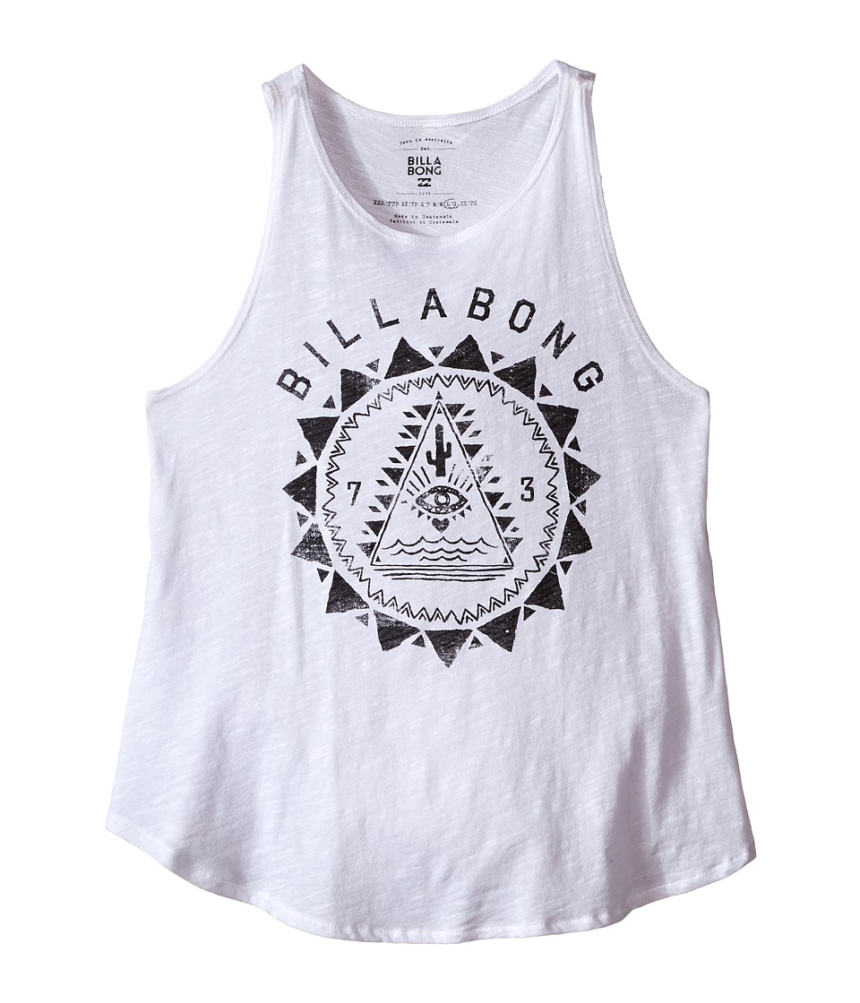 Billabong Kids Desert Mystic Tank Top Little Kids/Big Kids White Girls Sleeveless