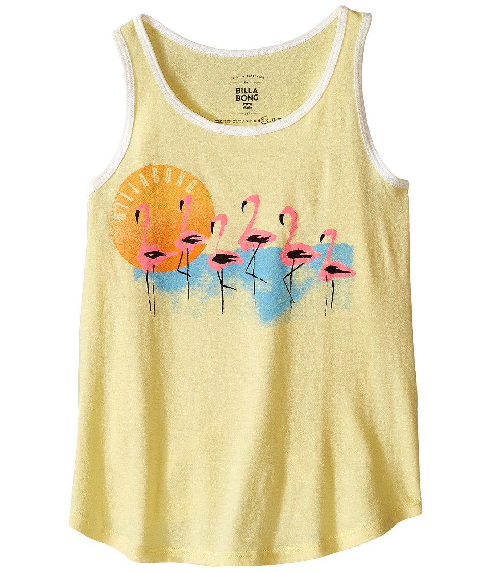 Billabong Kids Flamingo Sunset Tank Top Little Kids/Big Kids Pineapple Girls Sleeveless