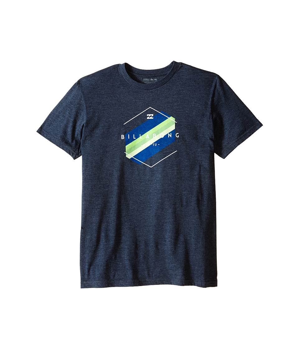 Billabong Kids - Obstacle T-Shirt (Big Kids) (Indigo Heather) Boy