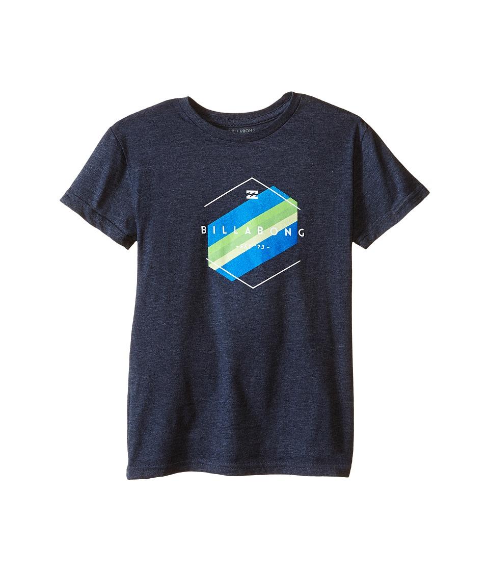 Billabong Kids - Obstacle T-Shirt (Toddler/Little Kids) (Indigo Heather) Boy