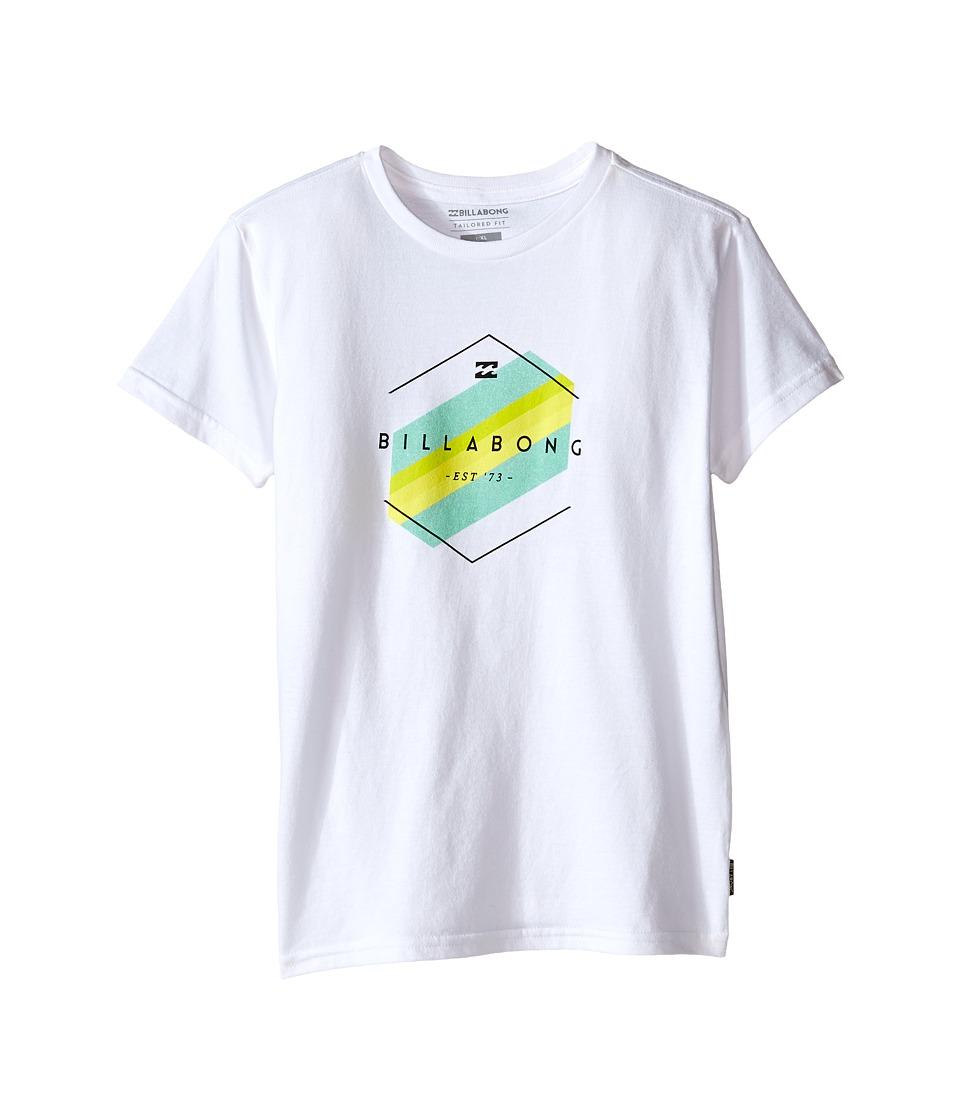 Billabong Kids - Obstacle T-Shirt (Toddler/Little Kids) (White) Boy