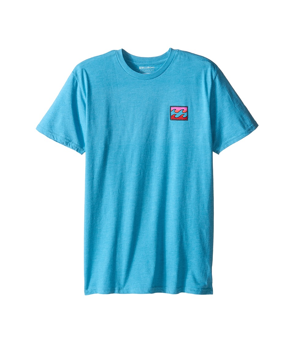 Billabong Kids Adrift T Shirt Big Kids Aqua Heather Boys Short Sleeve Pullover