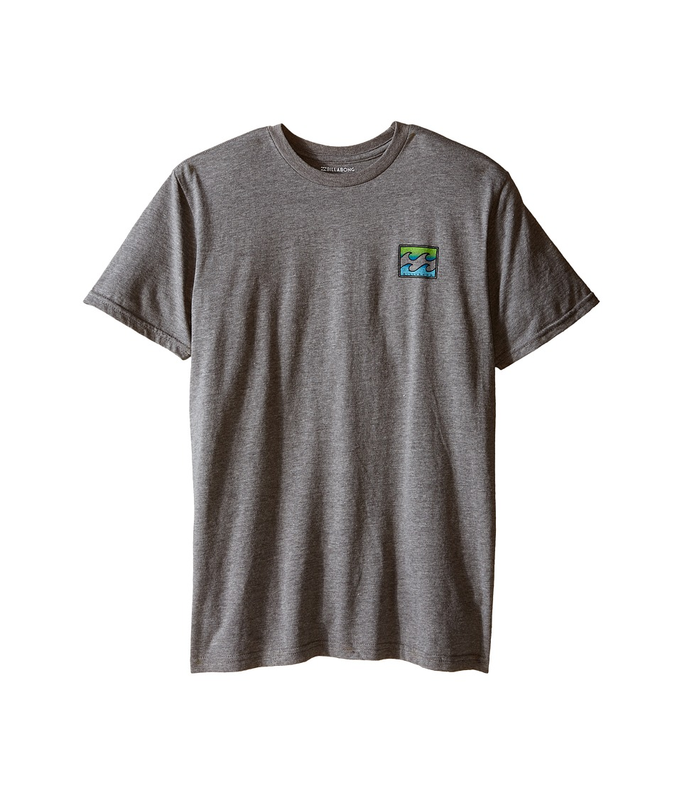 Billabong Kids Adrift T Shirt Big Kids Dark Grey Heather Boys Short Sleeve Pullover