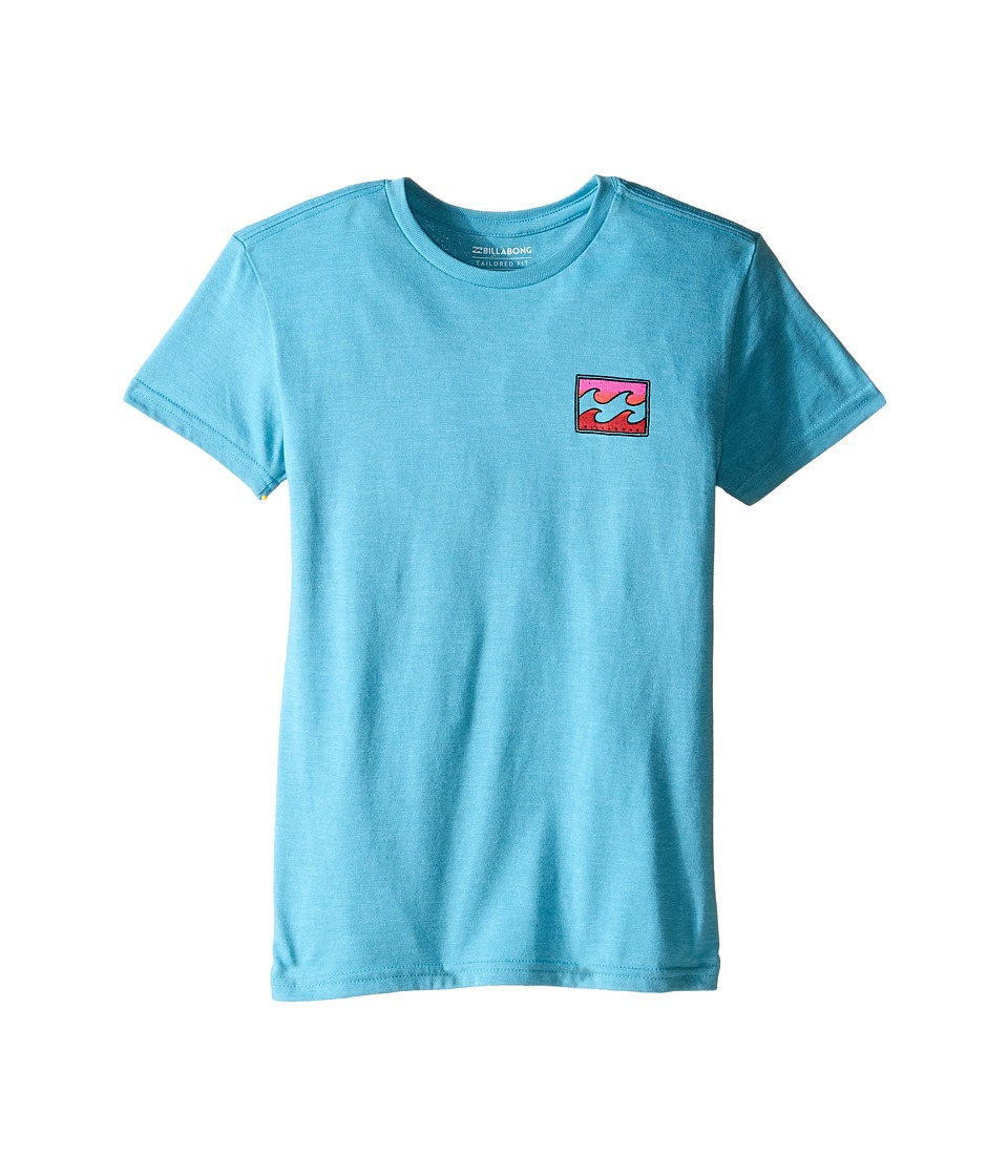 Billabong Kids Adrift T Shirt Toddler/Little Kids Aqua Heather Boys T Shirt
