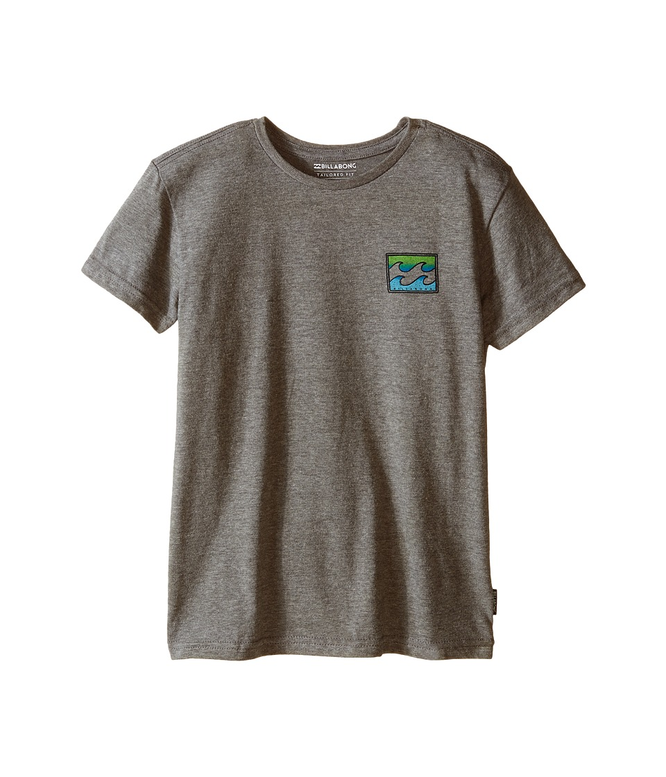 Billabong Kids Adrift T Shirt Toddler/Little Kids Dark Grey Heather Boys T Shirt