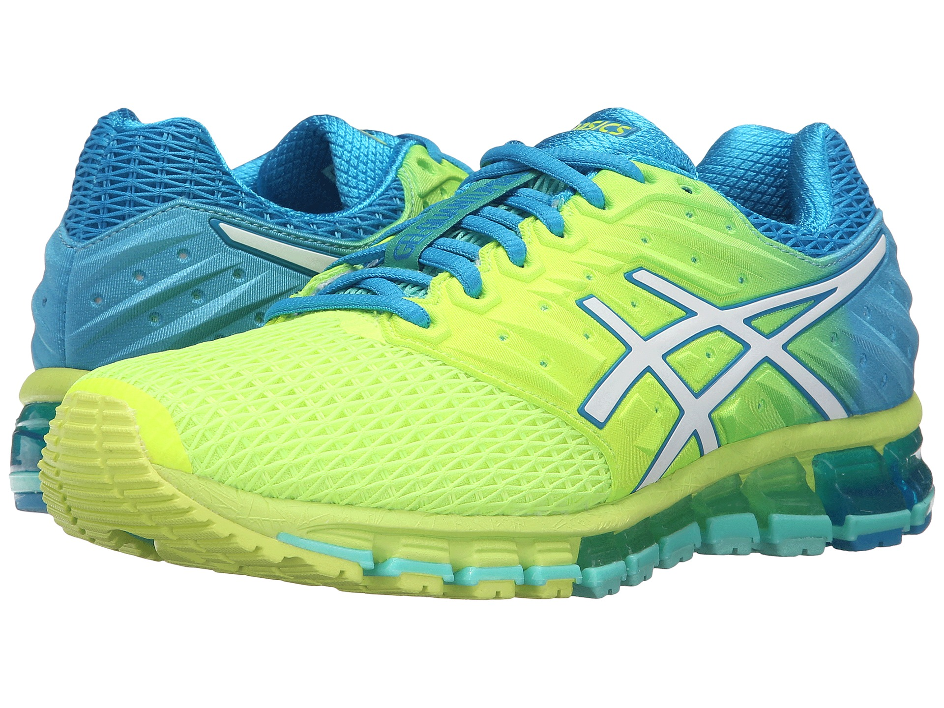 asics gel quantum 180 2 safety yellow white blue jewel free shipping both ways. Black Bedroom Furniture Sets. Home Design Ideas