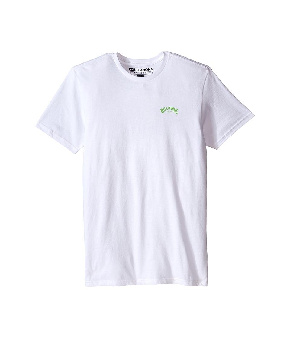 Billabong Kids - Arch T-Shirt (Big Kids) (White) Boy