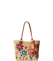 Brighton - Blossom Embroidered Raffia Tote