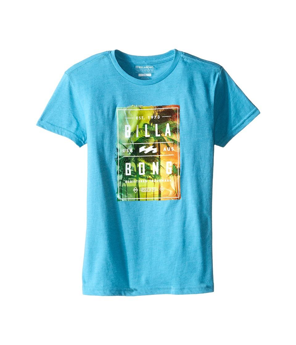 Billabong Kids - Static Paradise T-Shirt (Toddler/Little Kids) (Aqua Heather) Boy