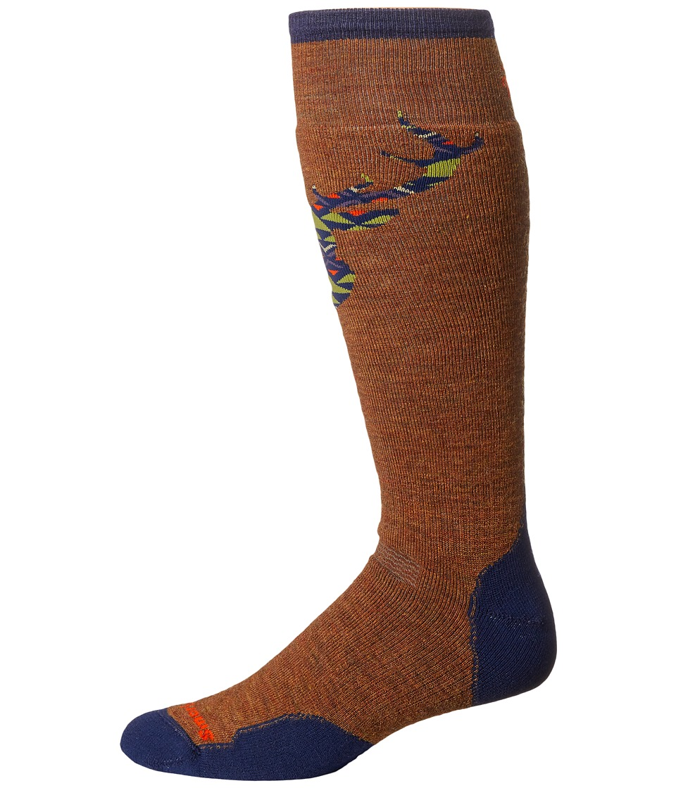 1920s-1950s New Vintage Men's Socks Smartwool - PhD Slopestyle Medium Akaigawa Caramel Mens Knee High Socks Shoes $25.95 AT vintagedancer.com