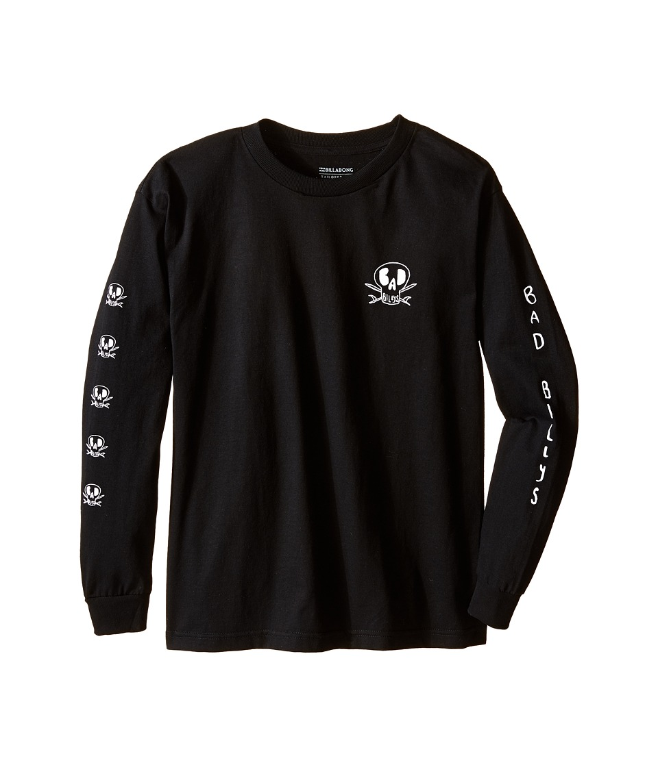 Billabong Kids Dead Shred Long Sleeve T Shirt Big Kids Black Boys Long Sleeve Pullover