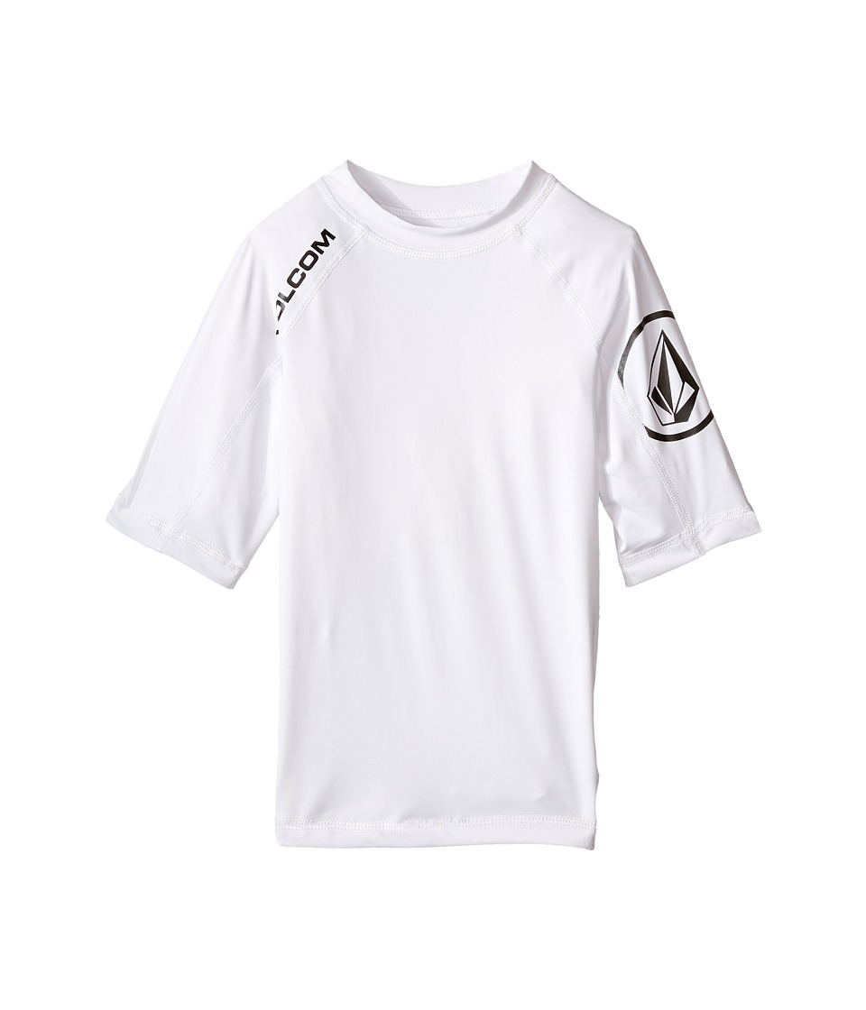 Volcom Kids - Solid Short Sleeve Top (Big Kids) (White) Boys Short Sleeve Pullover