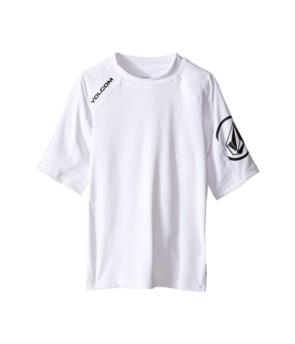 Volcom Kids - Solid Short Sleeve Top (Toddler/Little Kids) (White) Boys Short Sleeve Pullover