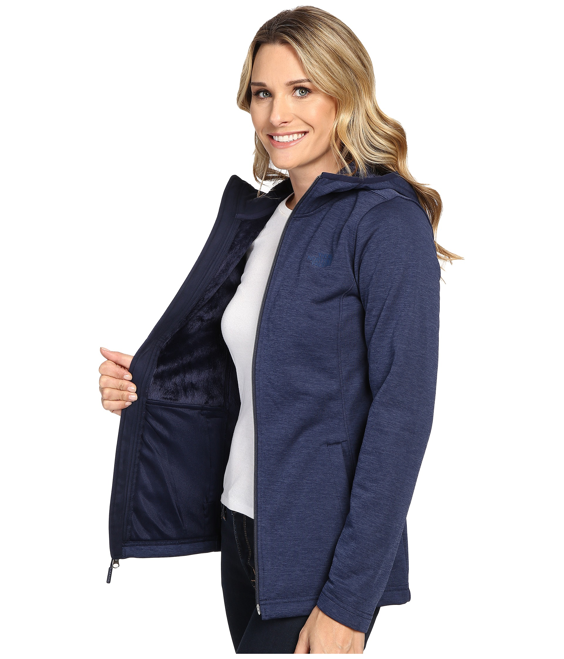 The North Face Meadowbrook Raschel Parka Cosmic Blue