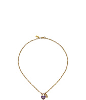 COACH - Enamel Padlock Heart Necklace