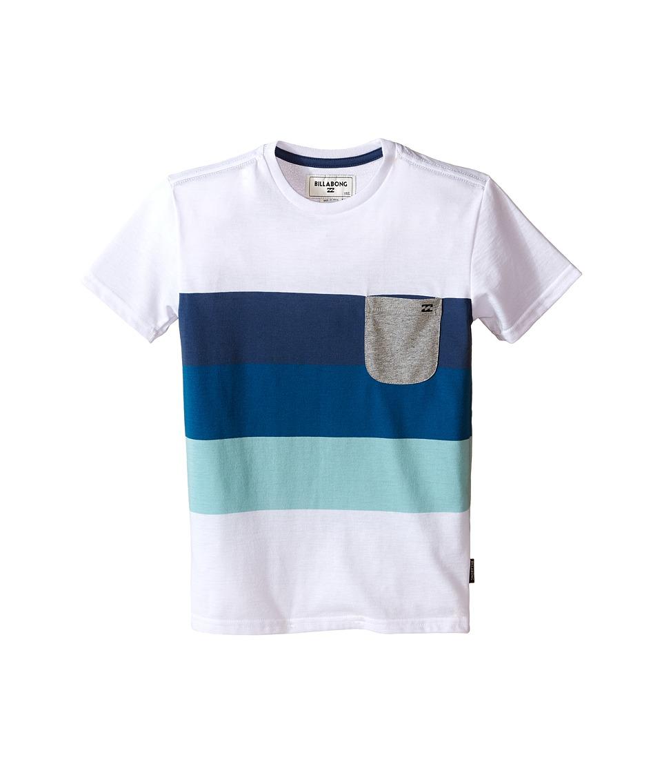 Billabong Kids Slice Short Sleeve Crew Toddler/Little Kids White Boys T Shirt
