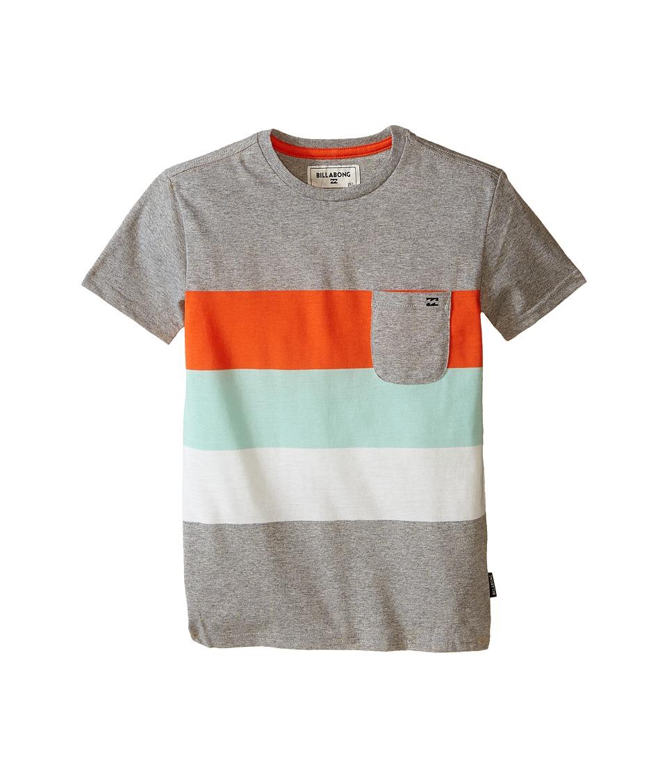 Billabong Kids Slice Short Sleeve Crew Toddler/Little Kids Grey Heather Boys T Shirt