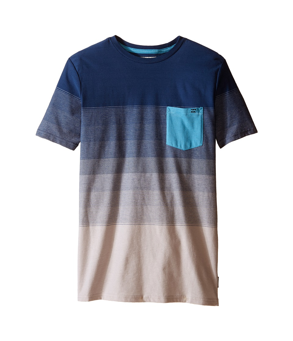 Billabong Kids Faderade Crew Big Kids Alloy Boys Short Sleeve Pullover