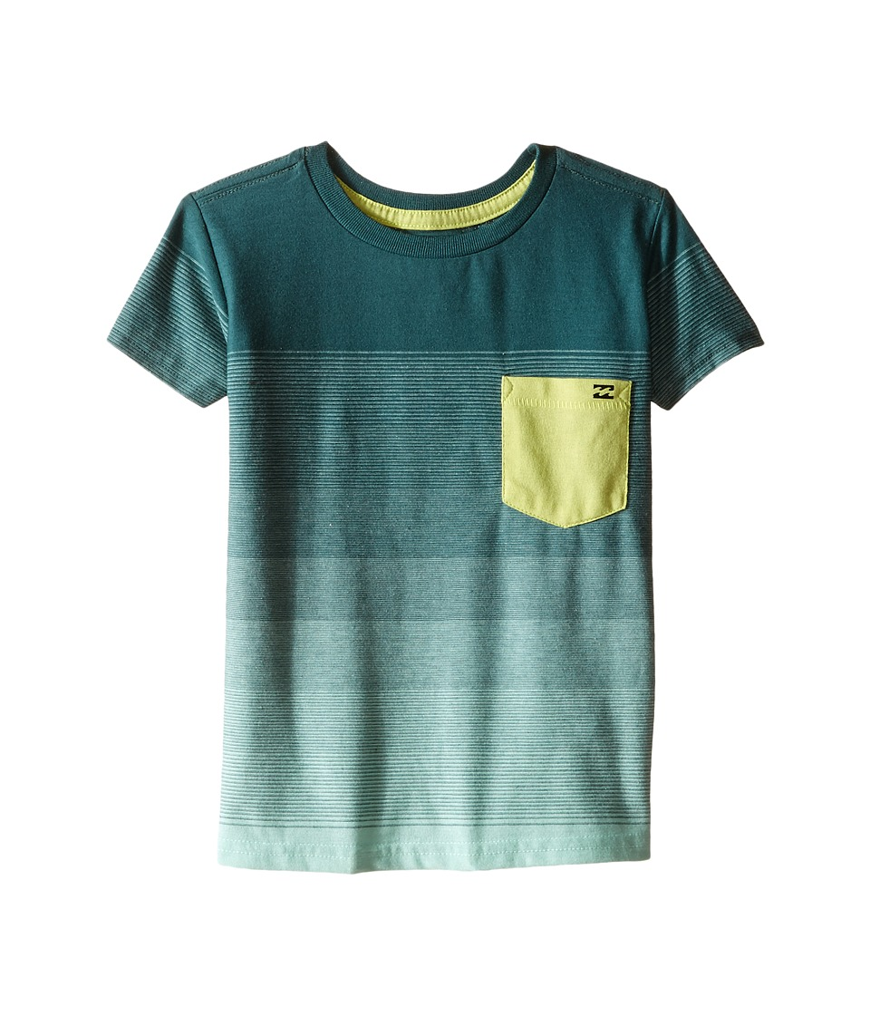 Billabong Kids Faderade Crew Toddler/Little Kids Mint Boys T Shirt