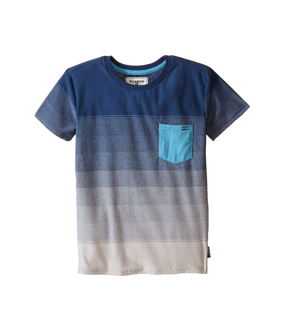 Billabong Kids Faderade Crew Toddler/Little Kids Alloy Boys T Shirt
