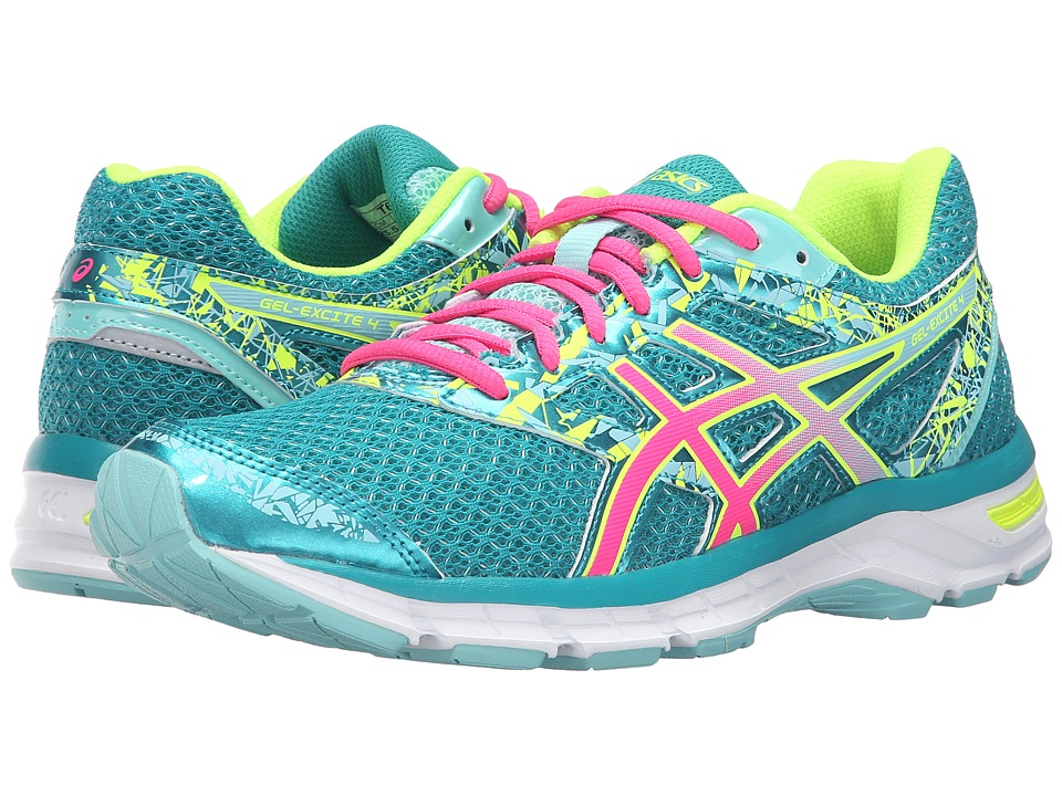 ASICS - Gel-Excite 4 (Lapis/Hot Pink/Safety Yellow) Women