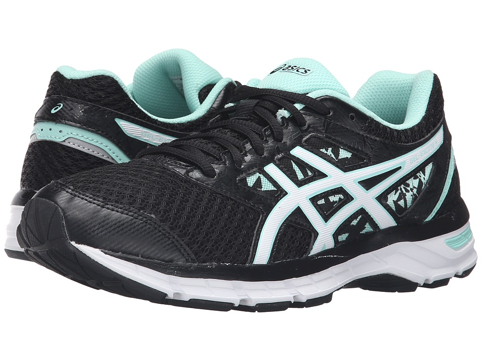 ASICS Gel-Excite 4 (Black/White/Mint) Women's Running Shoes