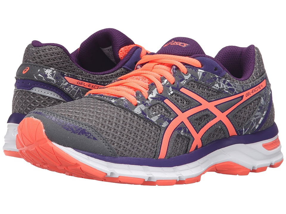 ASICS Gel-Excite 4 (Shark/Flash Coral/Parachute Purple) Women's Running Shoes