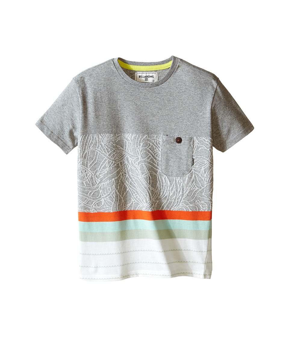 Billabong Kids - Spinner Short Sleeve Crew (Toddler/Little Kids) (Grey Heather) Boy