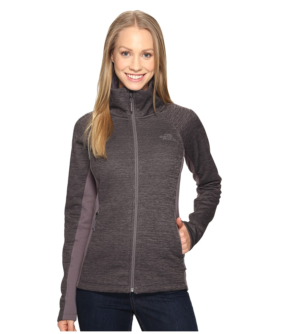 The North Face Arcata Full Zip (Rabbit Grey Heather/Rabbit Grey) Women