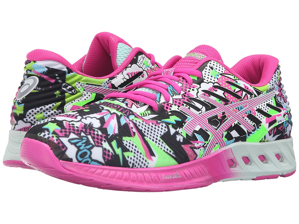 ASICS - FuzeX (White/Pink Glow/Soothing Sea) Womens Running Shoes