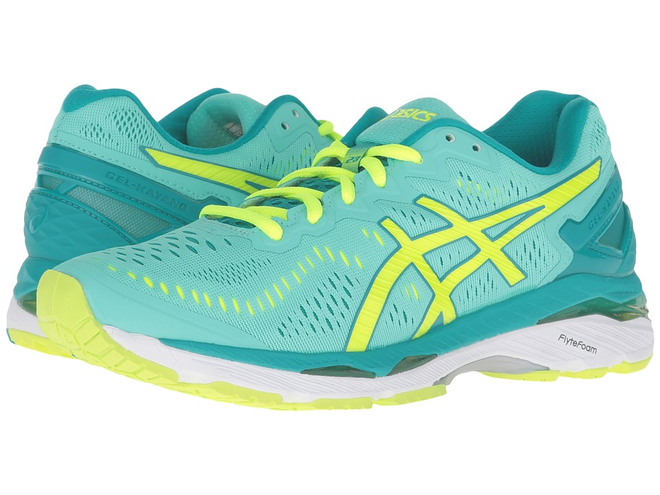 ASICS - Gel-Kayano(r) 23 (Cockatoo/Safety Yellow/Lapis) Womens Running Shoes