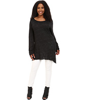 Allen Allen - Plus Size Long Sleeve Scoop Angled Tee