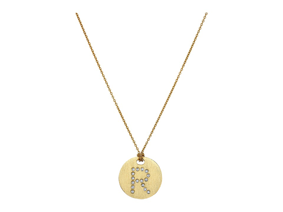 Roberto Coin - Tiny Treasures 18K Yellow Gold Initial R Pendant Necklace (Yellow Gold) Necklace