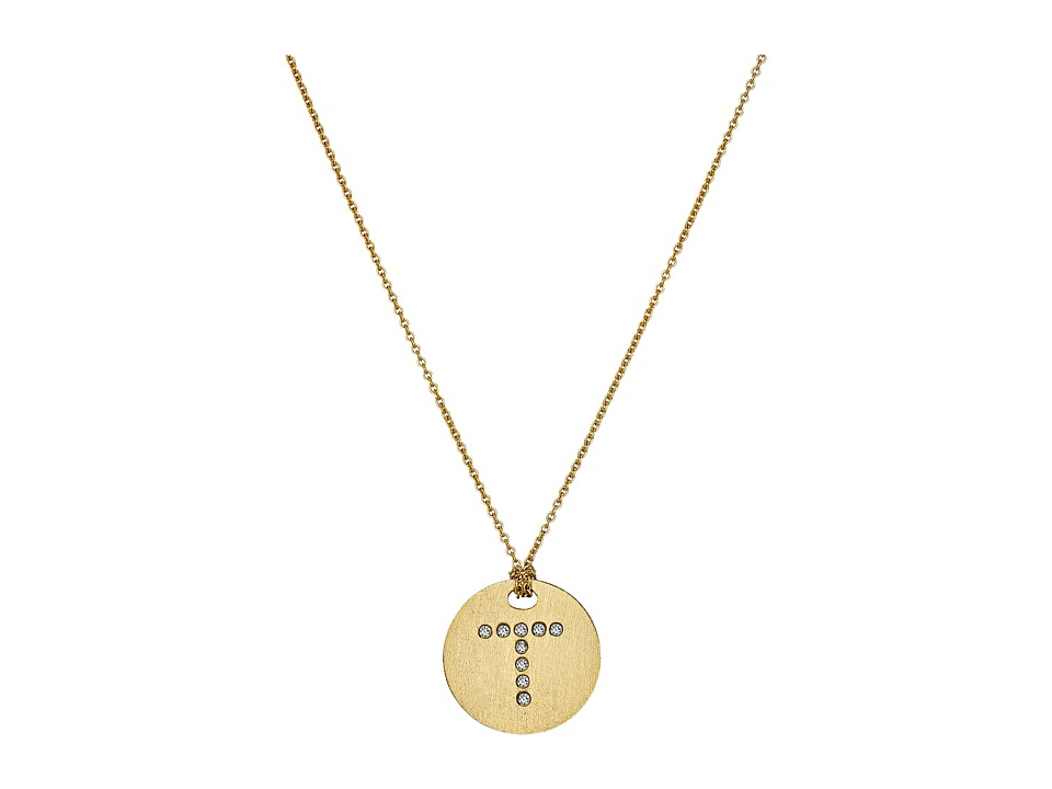 Roberto Coin - Tiny Treasures 18K Yellow Gold Initial T Pendant Necklace (Yellow Gold) Necklace