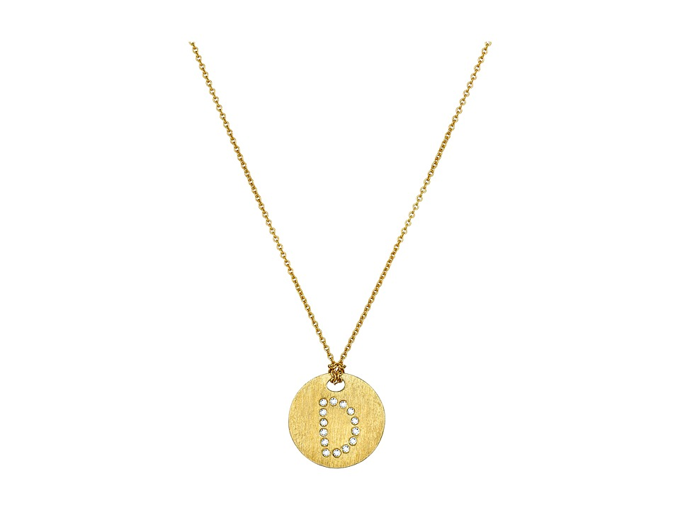 Roberto Coin - Tiny Treasures 18K Yellow Gold Initial D Pendant Necklace
