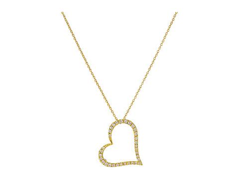 Roberto Coin Tiny Treasures 18K Yellow Gold Slanted Open Heart Necklace