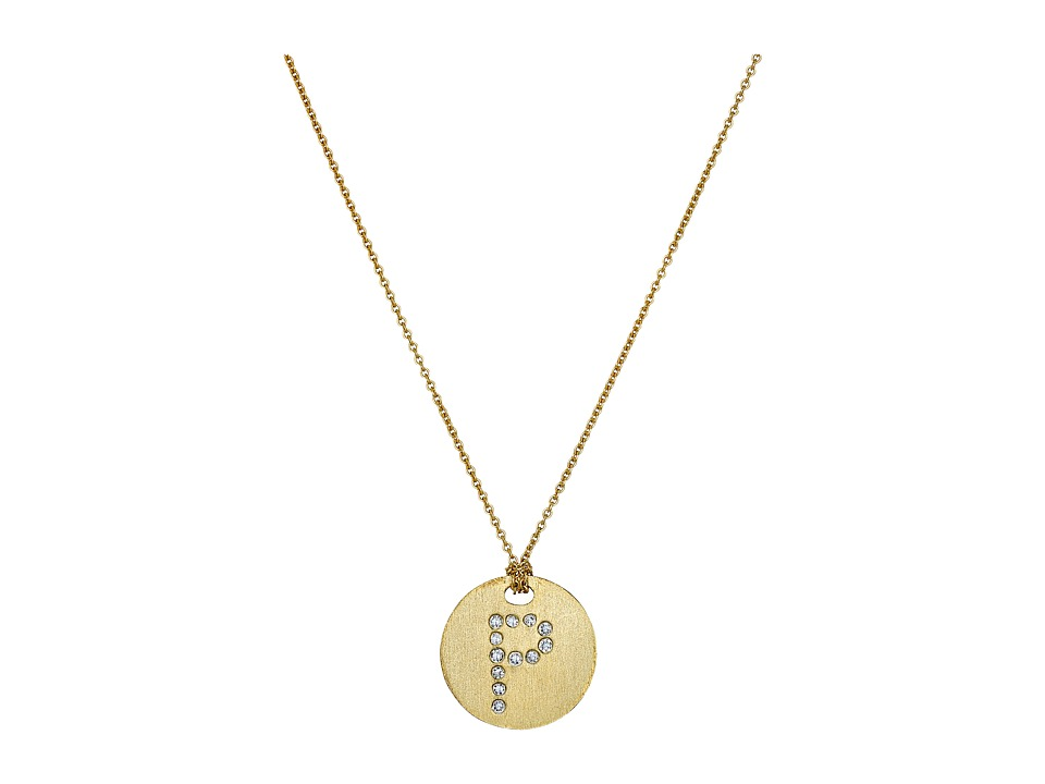 Roberto Coin - Tiny Treasures 18K Yellow Gold Initial P Pendant Necklace (Yellow Gold) Necklace