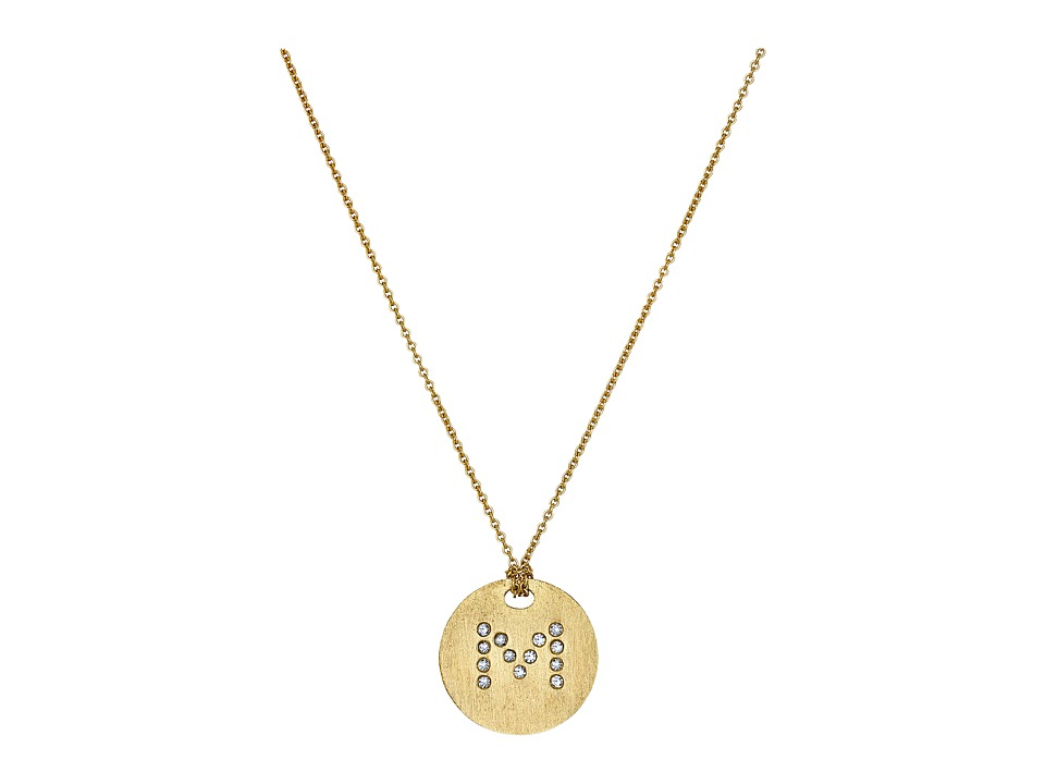 Roberto Coin - Tiny Treasures 18K Yellow Gold Initial M Pendant Necklace (Yellow Gold) Necklace