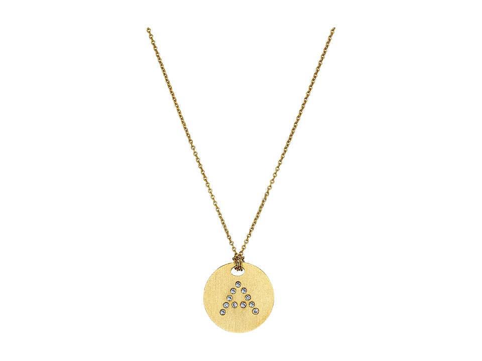 Roberto Coin - Tiny Treasures 18K Yellow Gold Initial A Pendant Necklace (Yellow Gold) Necklace