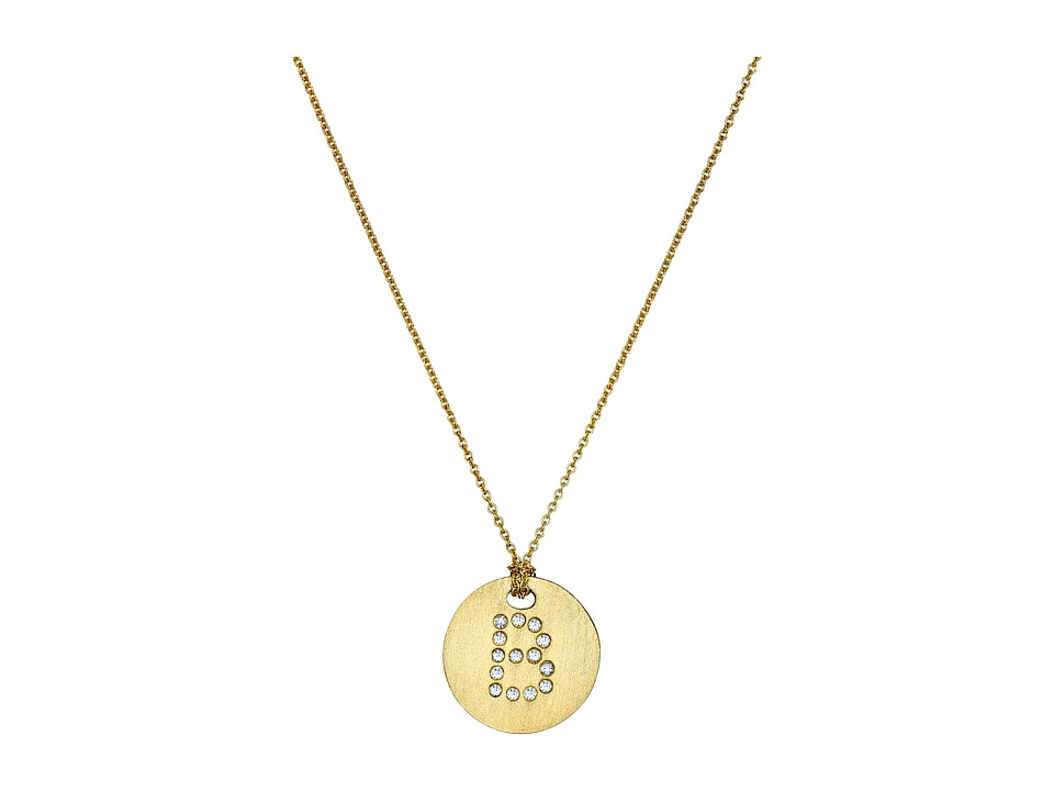 Roberto Coin - Tiny Treasures 18K Yellow Gold Initial B Pendant Necklace (Yellow Gold) Necklace