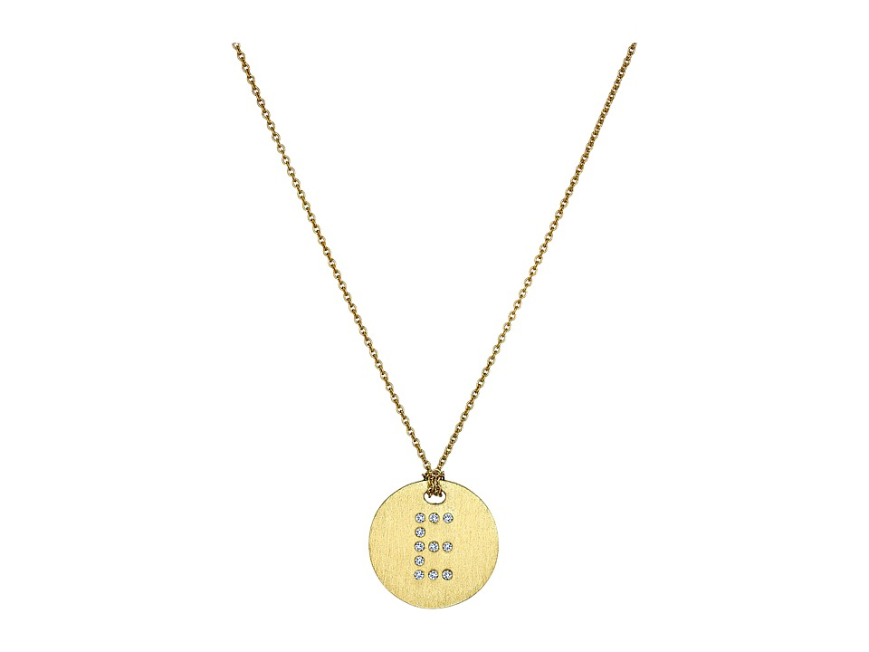 Roberto Coin - Tiny Treasures 18K Yellow Gold Initial E Pendant Necklace (Yellow Gold) Necklace