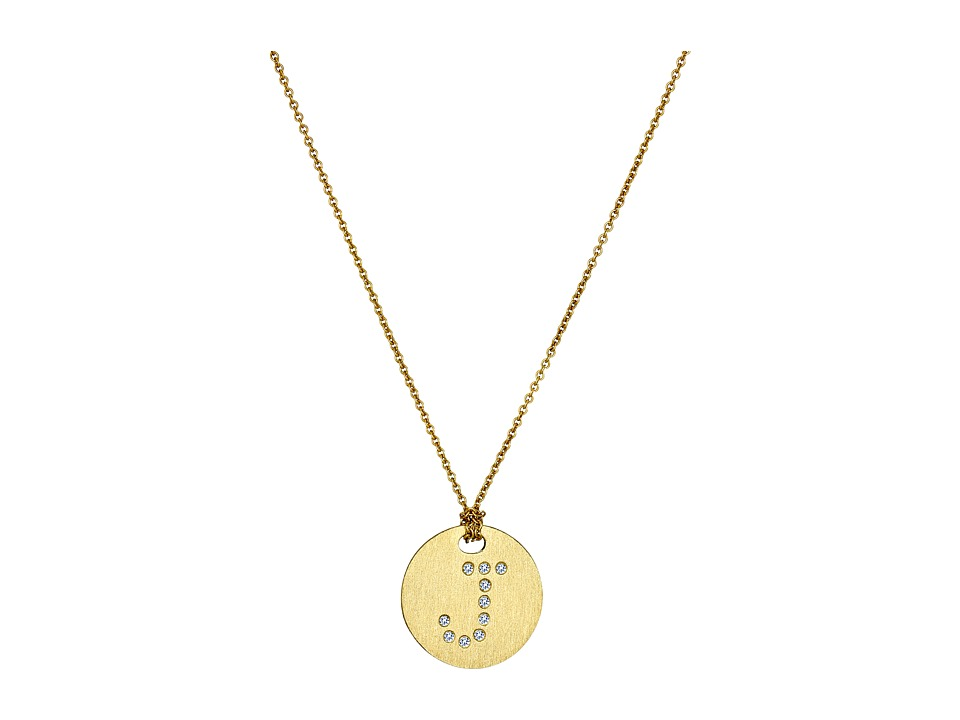 Roberto Coin - Tiny Treasures 18K Yellow Gold Initial J Pendant Necklace (Yellow Gold) Necklace