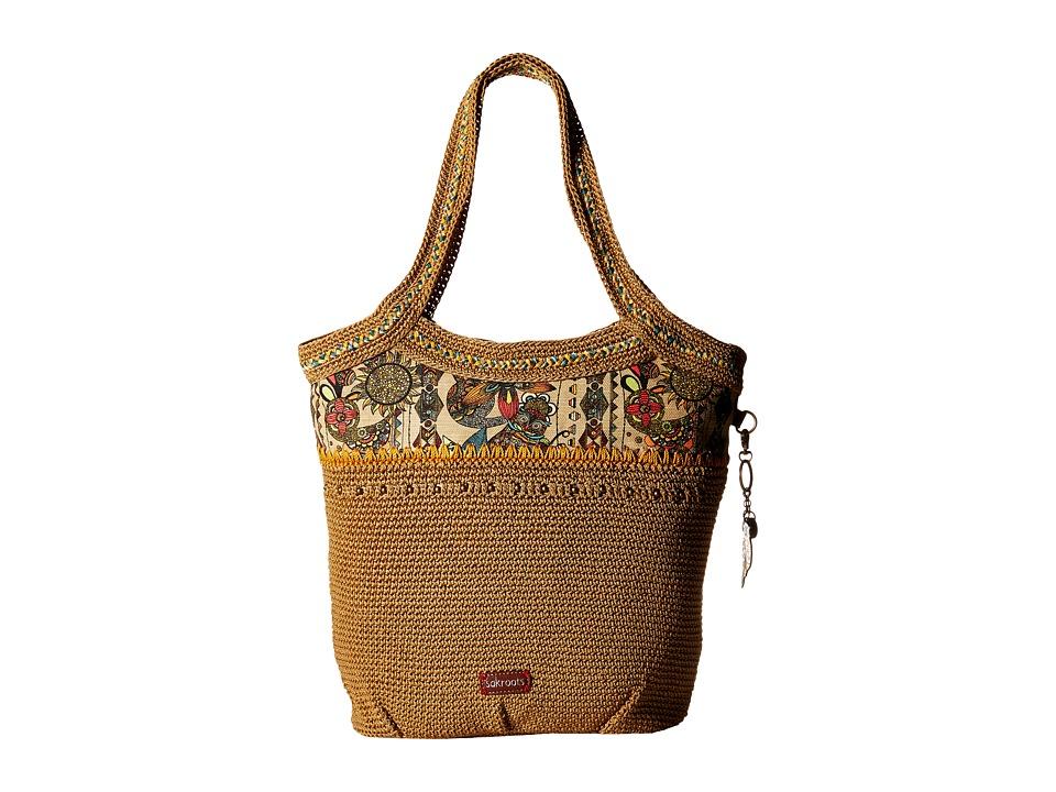 Sakroots Artist Circle Crochet Large Tote Camel Spirit Desert Tote Handbags
