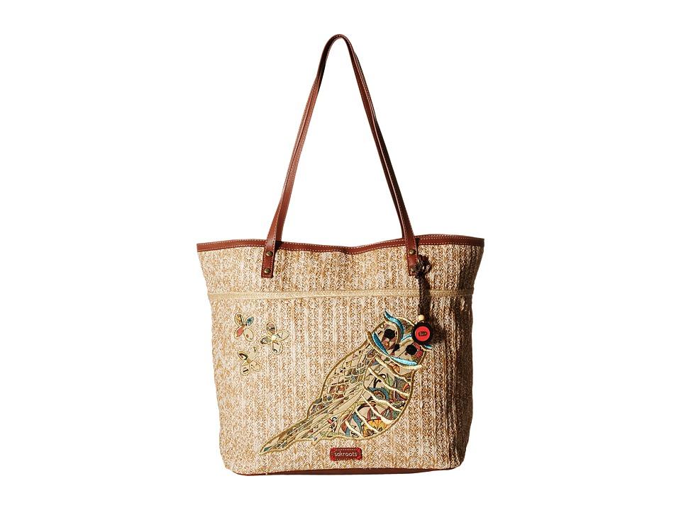 Sakroots - Artist Circle Straw XL Tote (Camel Spirit Desert) Tote Handbags