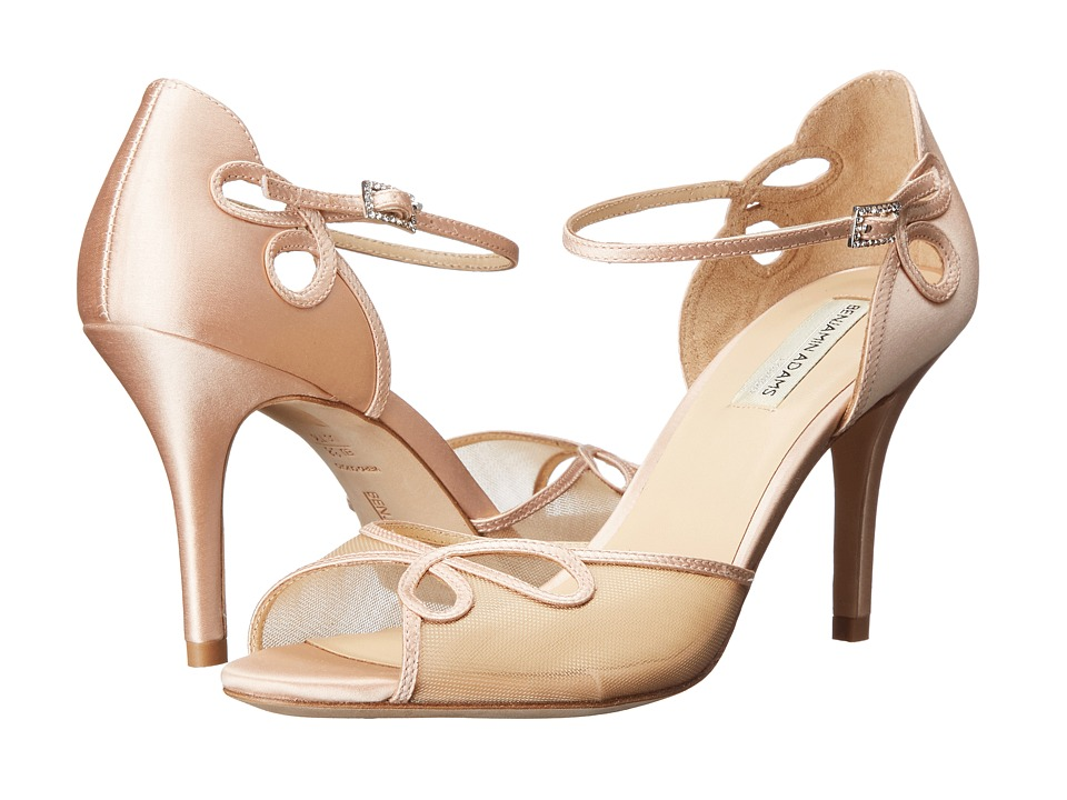 Benjamin Adams London Lola Blush Duchesse Silk High Heels