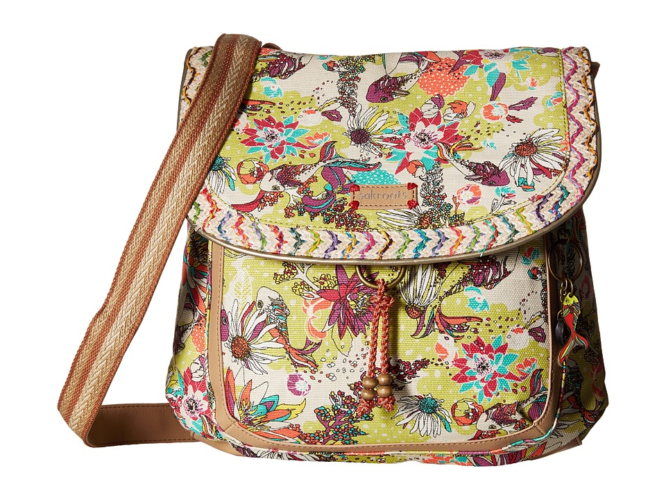 Sakroots - Artist Circle Convertible Backpack (Citrus Xen Garden) Backpack Bags